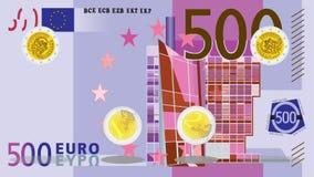 Rotation de pièce de monnaie - euro banque de vidéos