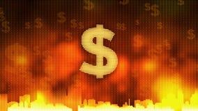 Rotation de symbole dollar Économie mondiale, circulation d'argent, affaires, marché boursier illustration libre de droits