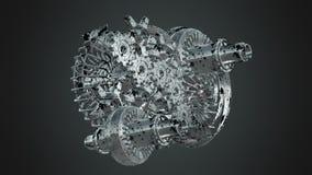 Rotation de vitesses de machine illustration stock