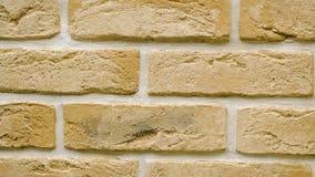 Rotation des gelben dekorativen Ziegelsteines für Haus Maurerarbeithintergrund Zahl Block stock footage