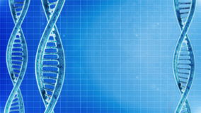 Rotation of the DNA molecules. Background cyclic rotation of the DNA molecules stock footage