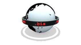 Rotation du monde de Domain Name d'isolement sur le blanc avec l'ombre illustration libre de droits