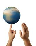 Rotation earth Stock Image