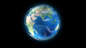 Rotation of the Earth stock footage