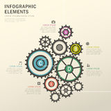 Rotation gear infographics design. Vector illustration abstract rotation gear infographics design Stock Photo