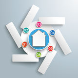 Rotation Infographic House 6 Options Stock Images