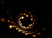 rotation légère d'or de corps ronds illustration de vecteur