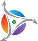 Rotation logo Royalty Free Stock Image