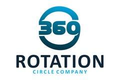 Rotation logo. Circle logo with 360 rotation text Royalty Free Stock Photos