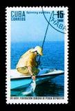 Rotation maritime, 30ème anniversaire du Cubain Federat de pêche Images libres de droits