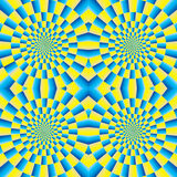 Rotation motion illusion Royalty Free Stock Images