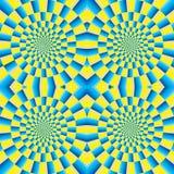 Rotation motion illusion. Optical illusion of motion. Optical illusion background pattern. The optical illusion of movement executed in the form of rotating Royalty Free Stock Images