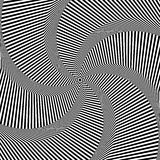 Rotation movement illusion. Abstract op art backgr Stock Photo