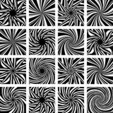 Rotation och vridningsrörelse bakgrundsdesignelement fyra vita snowflakes Royaltyfri Bild
