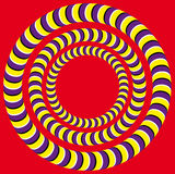 Rotation (Optical illusion) Stock Image