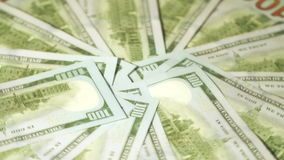 Rotation paper money stock footage