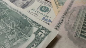 Rotation paper money. US dollars bank notes. stock footage