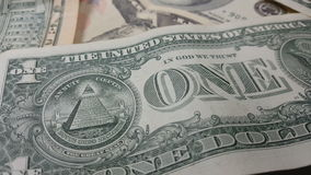 Rotation paper money. US dollars bank notes. stock video footage