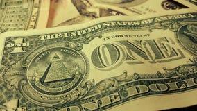 Rotation paper money. US dollars bank notes. Macro shot stock video