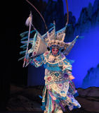 """The rotation of Peking Opera- Beijing Opera"""" Women Generals of Yang Family"""". This opera tells a patriotic story how does an old woman of a hundred Stock Photo"""