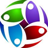 Rotation people logo Royalty Free Stock Image