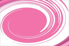 The rotation of the pink and white oval royalty free illustration