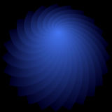 Rotation shape. Abstract deep blue backdrop. Royalty Free Stock Photography
