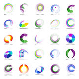 Rotation and spiral design elements. Vector art Royalty Free Stock Photos