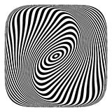 Abstract op art design element. Royalty Free Stock Photo