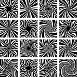Rotation and twisting movement. Design elements. Royalty Free Stock Image