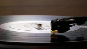 Vinyl Record Rotation. Rotation of a vinyl black retro record stock video footage
