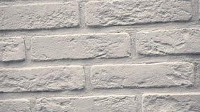 Rotation von weißen dekorativen Ziegelsteinen für Haus Maurerarbeithintergrund Zahl Block stock video