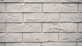 Rotation of white decorative bricks for home. Brickwork background. Figure block. Clear place for your isolated text pattern. Empty space for your title copy stock video footage
