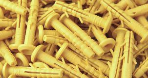 The rotation of the yellow dowels. The rotation of the yellow dowels stock video
