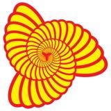 Rotations-Dreieck Shell Swirl Vector Stockfoto