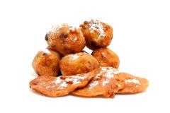 Rotations hollandaises de beignet et de pomme photos libres de droits