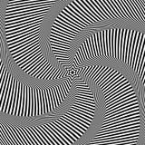 Rotationsbewegung Abstrakte Auslegung der OPkunst Vektor Art Lizenzfreie Stockfotos