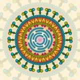 Rotavirus Bakgrund 10 eps Arkivbilder