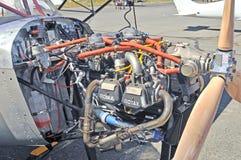 Rotax小型飞机引擎 免版税库存照片