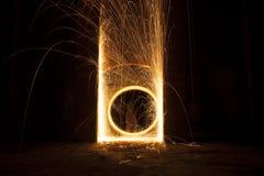 Rotazione astratta del fuoco Immagini Stock