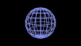Rotazione blu dei bordi della sfera royalty illustrazione gratis