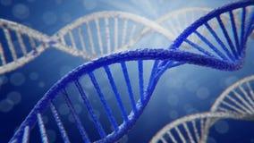 Rotazione blu del filo del DNA royalty illustrazione gratis