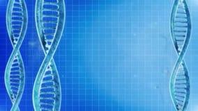 Rotazione ciclica del fondo delle molecole del DNA royalty illustrazione gratis