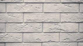 Rotazione dei mattoni decorativi bianchi per la casa Fondo della muratura Figura blocco video d archivio