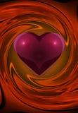 Rotazione del cuore Immagini Stock