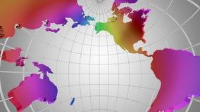 Rotazione del globo Uno sguardo dentro archivi video