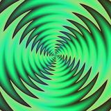 Rotazione dell'elica spinosa verde Ventilatore variopinto del condizionamento d'aria nel movimento rapido Fotografia Stock Libera da Diritti