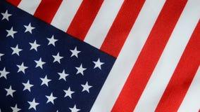 Rotazione della bandiera americana video d archivio
