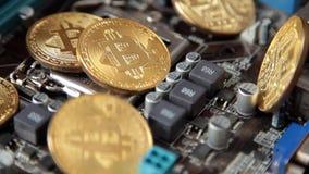 Rotazione della moneta di Bitcoin di valuta di Cripto stock footage