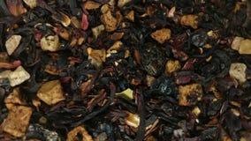 Rotazione delle foglie di tè video d archivio